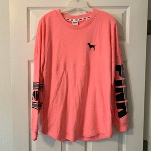PINK Victorias Secret Varsity Crew Long-Sleeve Top